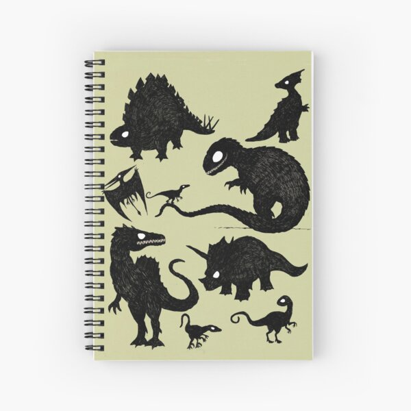 Silhouetted Dinosaurs Spiral Notebook