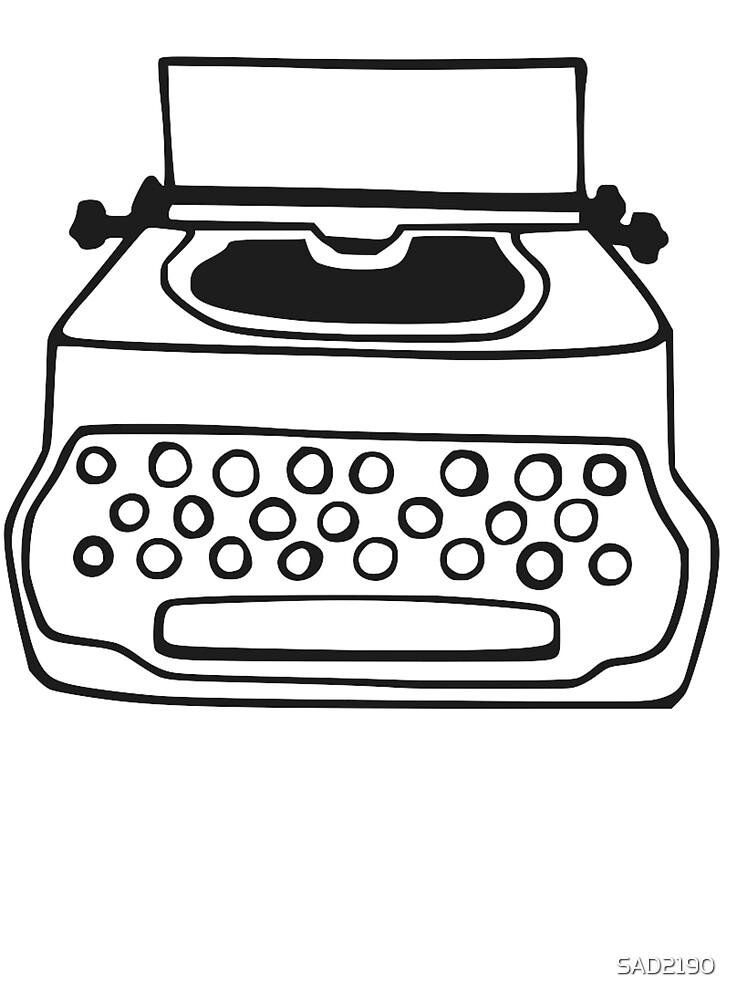 Typewriter - Black by SAD2190
