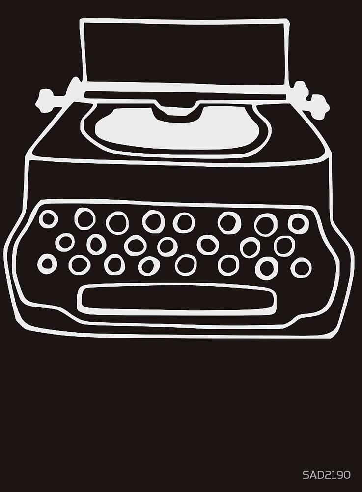 Typewriter - White by SAD2190