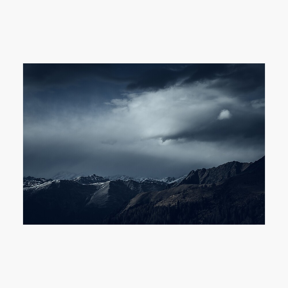 We wanted to sleep in the mountains Photographic Print