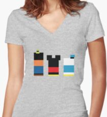 Iconic Trio Women's Fitted V-Neck T-Shirt