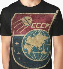 CCCP-Flaggensatellit Grafik T-Shirt