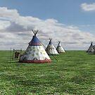 Native American Village by Vac1