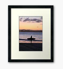 Surfin' the bay Framed Print