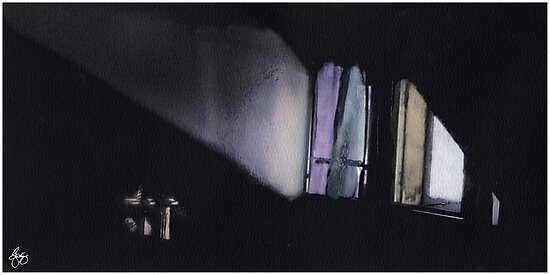 Morning Light Across a Bedroom by Wayne King
