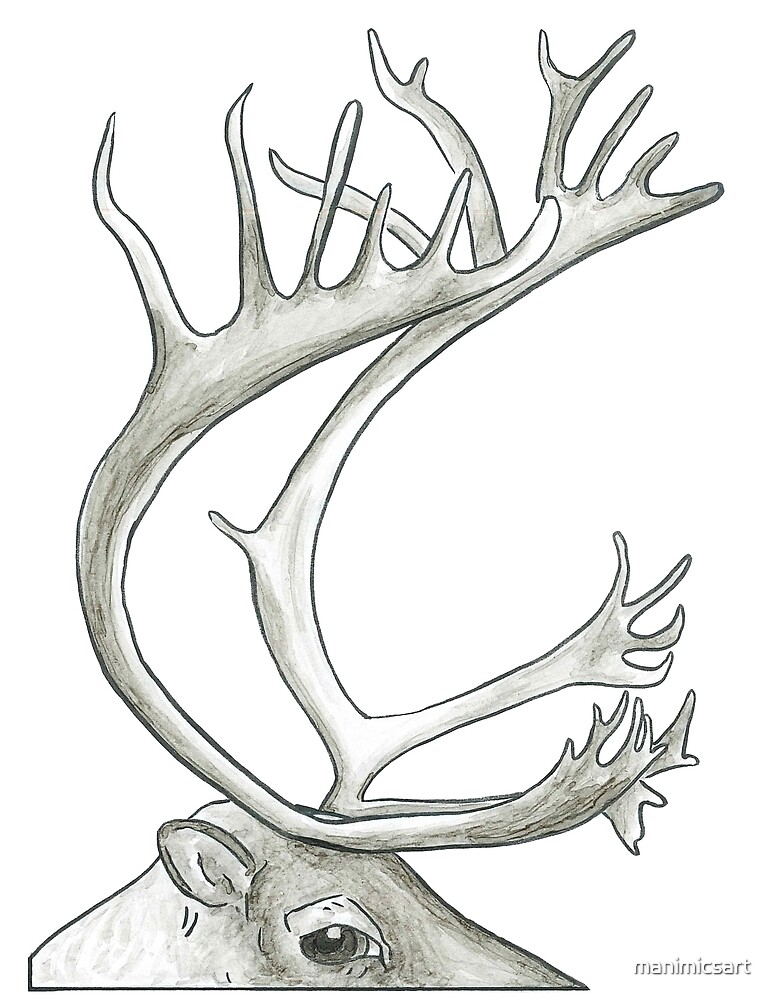 Peering Deer by manimicsart