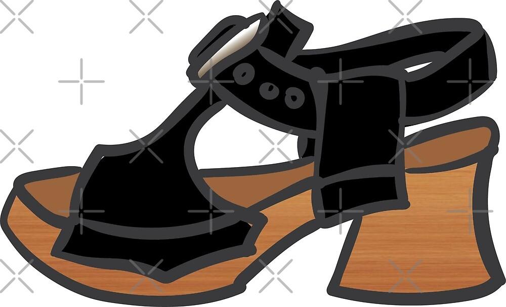 Black Fluevog Clog Sandal by anne m bray