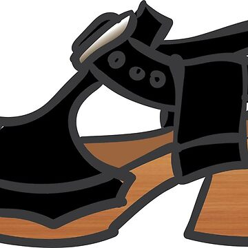 Black Fluevog Clog Sandal by annembray