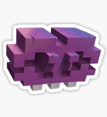 Invading The Third Dimension Sticker