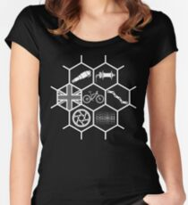 MTB Honeycomb Stealth Women's Fitted Scoop T-Shirt
