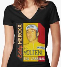 Eddy Merckx - The Cannibal Women's Fitted V-Neck T-Shirt