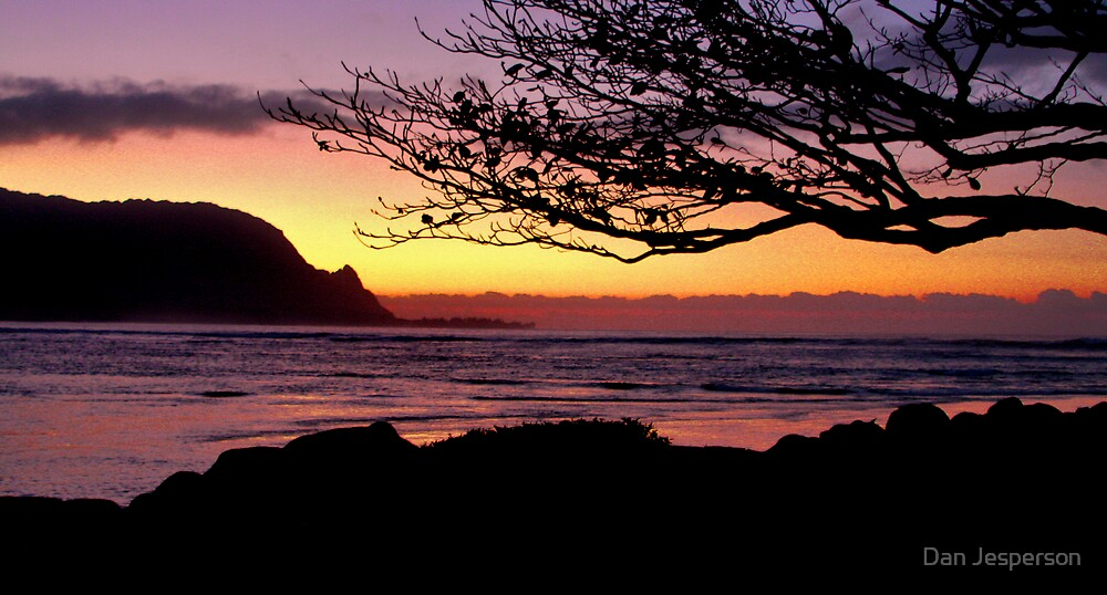 Sundown in Hanalei by Dan Jesperson