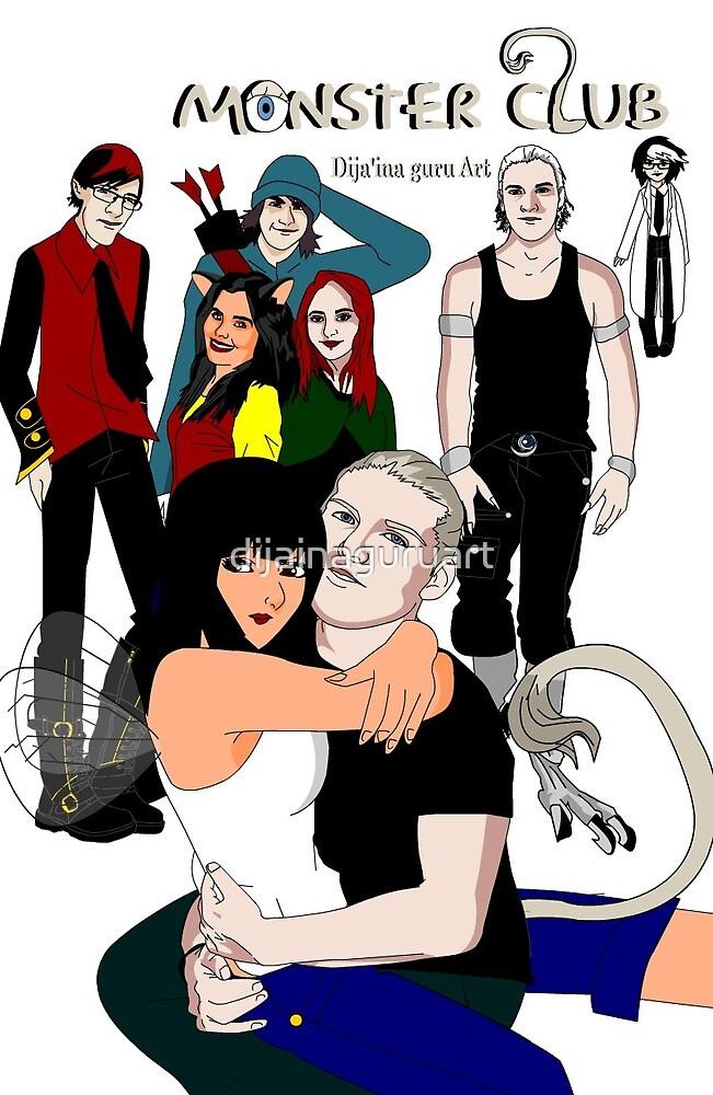 Monster Club Poster by dijainaguruart