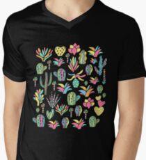 Bright cacti Men's V-Neck T-Shirt