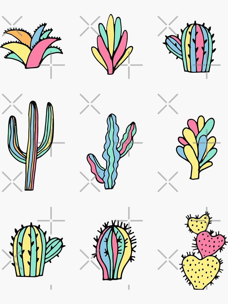 Bright cacti by kostolom3000