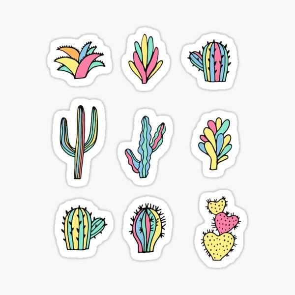 Bright cacti Sticker