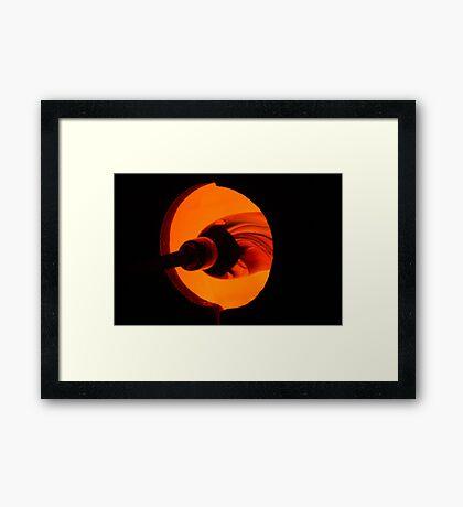 art glass Framed Print