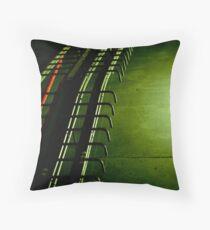 Concrete caterpillar Throw Pillow