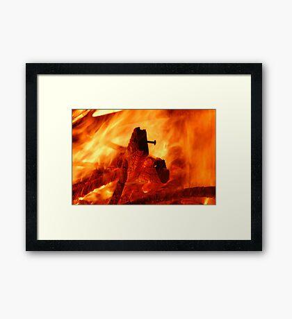 heart of a fire Framed Print