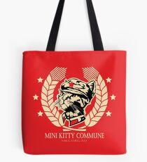 The Mini Kitty Commune Flag Tote Bag