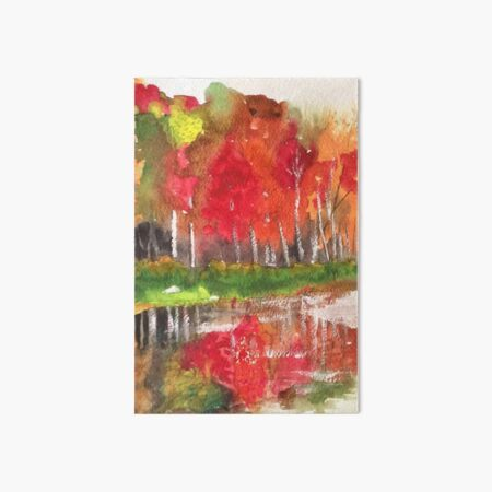 Fall in Vermont Art Board Print
