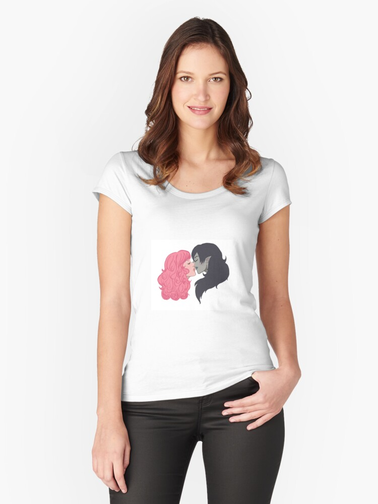 royal kisses Women's Fitted Scoop T-Shirt Front