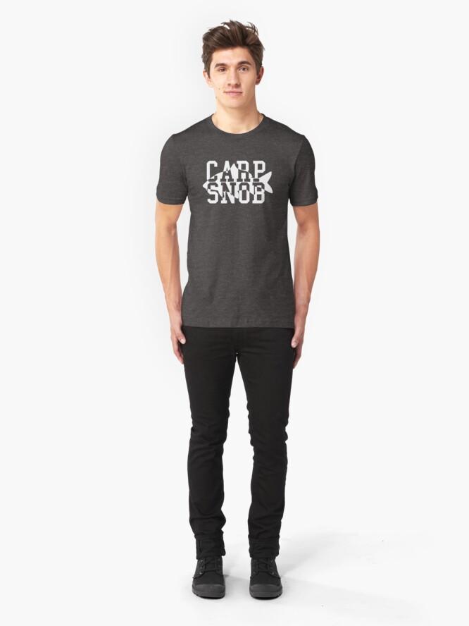 Alternate view of Carp Snob Fisherman's Shirt Slim Fit T-Shirt