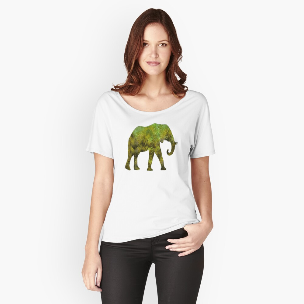 An Elephants Journey Women's Relaxed Fit T-Shirt Front