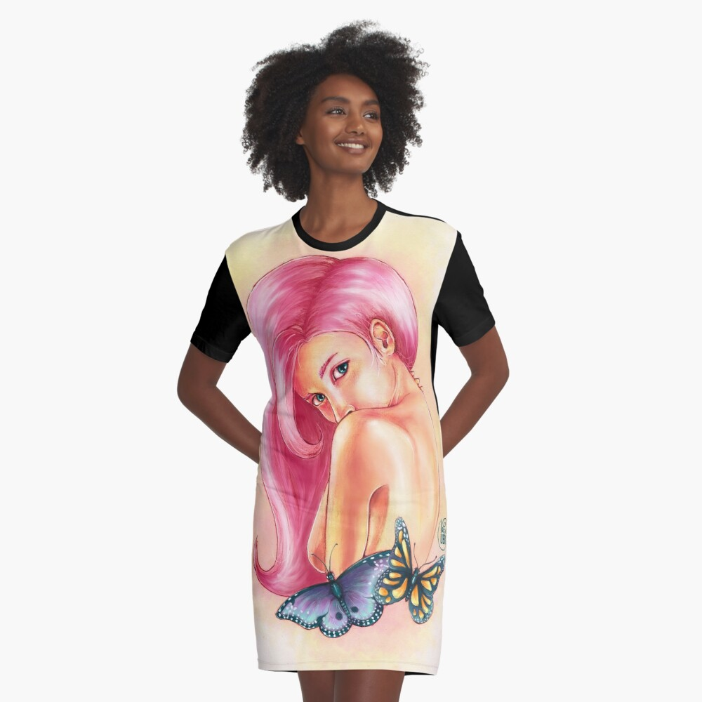 Butterfly Graphic T-Shirt Dress