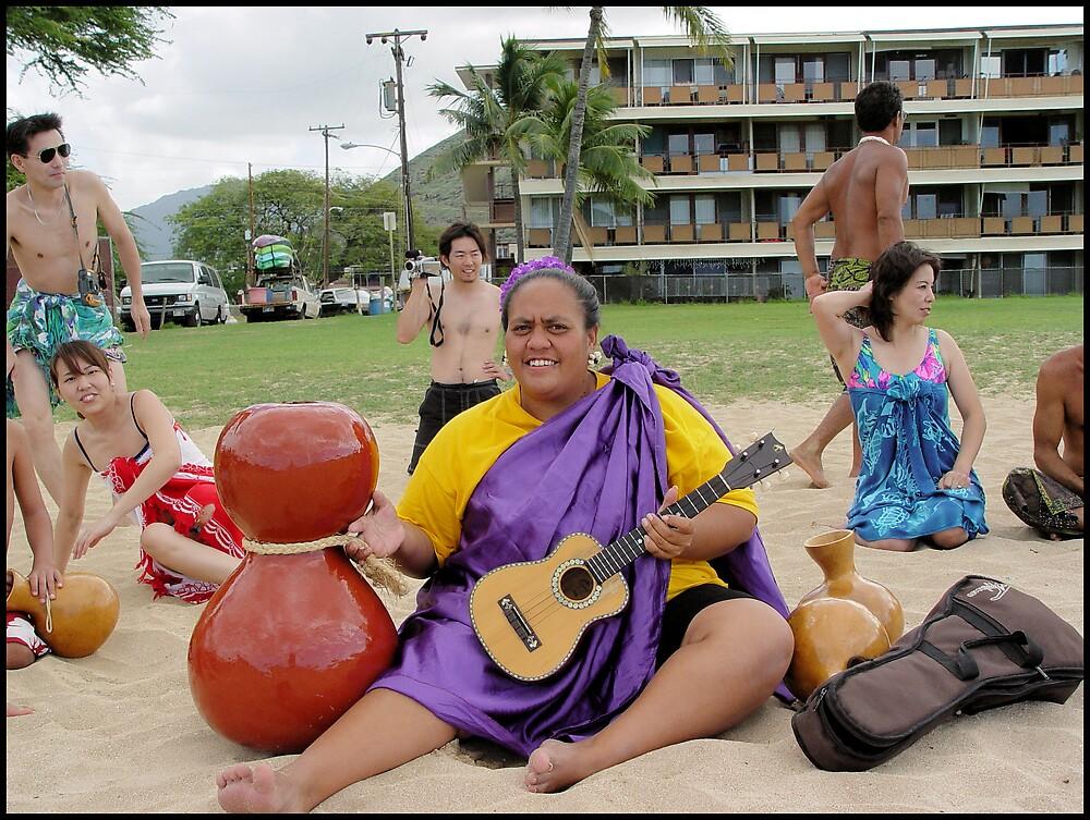 Hula Dancers on the Beach by Photoflirt