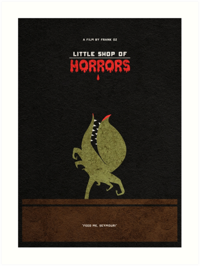 Little Shop of Horrors Alternative Minimalist Poster by geekmywall