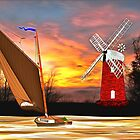 Wind Powered - Horsey Windmill and a Wherry in the Norfolk Broads (includes video) by Dennis Melling