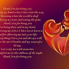 Thank You for Being You Poetry Greeting Card by taiche