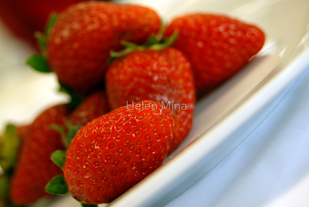 Plate of Strawberries by Helen Mina