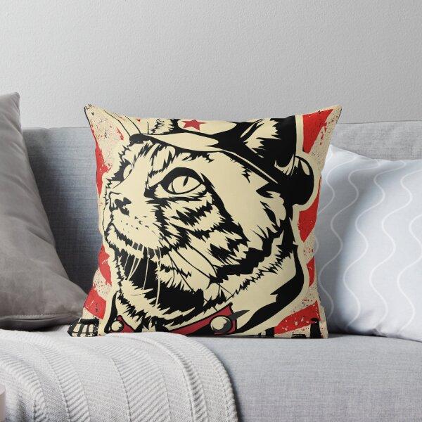 MKC Furdell Catstro Poster Throw Pillow