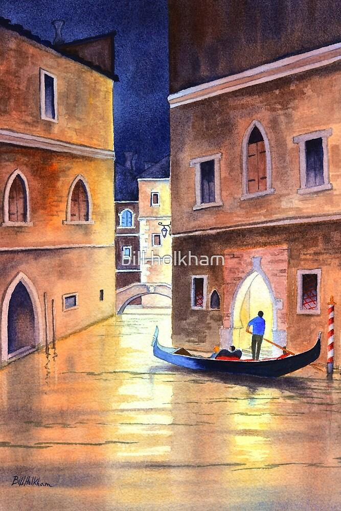 Venice Italy - Evening Gondola Ride by bill holkham
