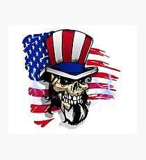 Patriot - Uncle Sam Bones Photographic Print
