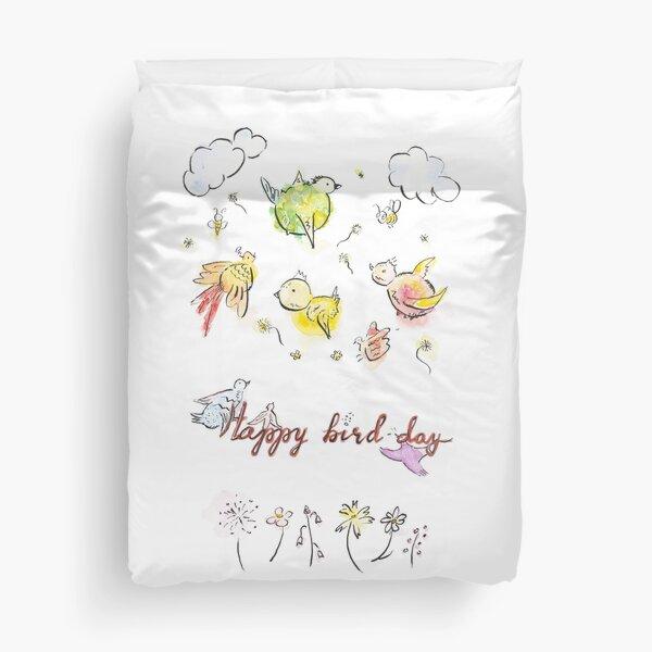 Happy bird-day Duvet Cover