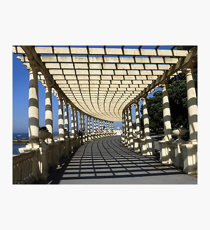 Covered Walkway along the Foz do Douro Photographic Print