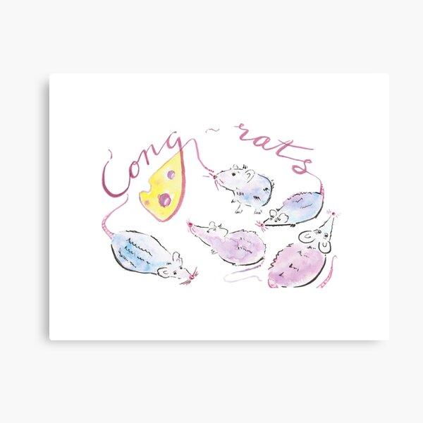 Cong-rats! Canvas Print