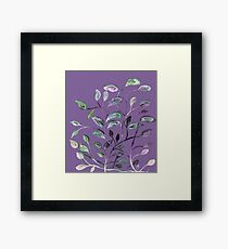 Silky Lavender Greenery Leaves Framed Print