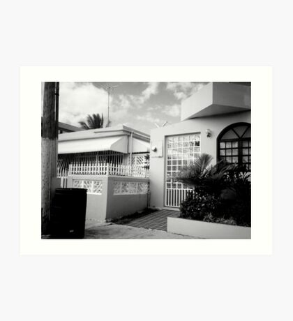 Some Puerto Rican house. Art Print