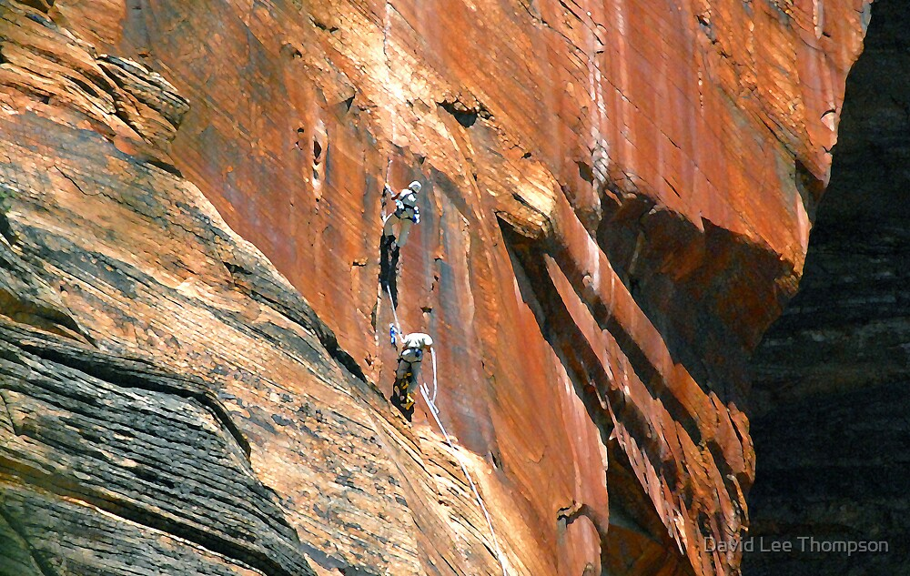 """Big Wall Climbing at Zion"" by David Lee Thompson"