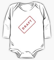 A plan, DRAFT, not quite finished, Rubber Stamp One Piece - Long Sleeve