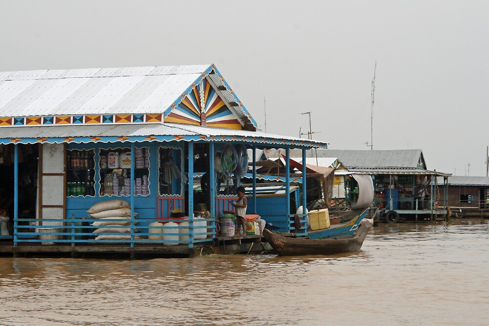 General Store - Floating Village, Cambodia by Leigh Penfold