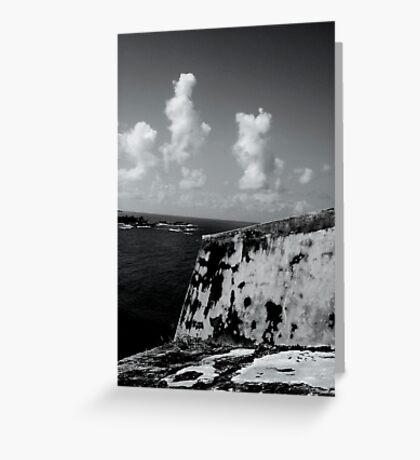 Ocean walls. Greeting Card