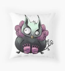 Left-Right : The Mansion // The Owl Throw Pillow