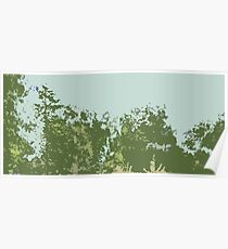 Green Trees, Blue Sky Poster