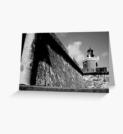 Love message on walls of San Christobel. Greeting Card