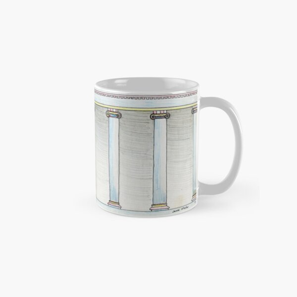 Collonade Pencil Rendering Classic Mug